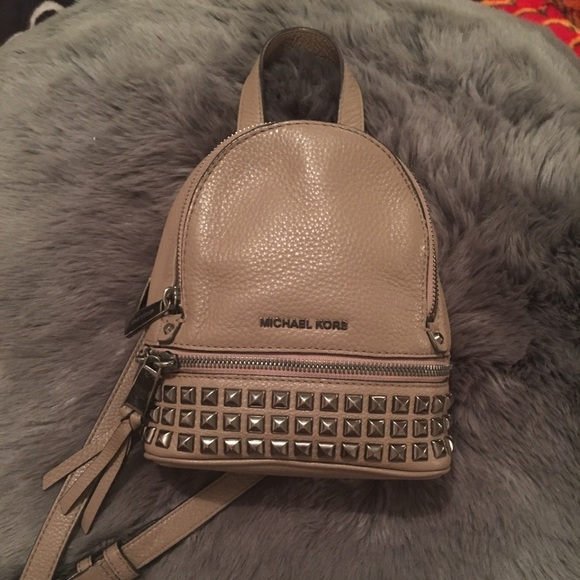 b74a5bf9487c Michael Kors Rhea Mini Pyramid Backpack ❤ . M 5a36fd499a9455946d02528c